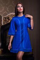 Вечернее платье со вставками из гипюра, фото 1