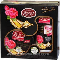 Rose Natural Rose & Bio Argan Комплект : крем для обличчя 100 мл + маска для обличчя 100 мл