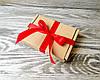 Подарочная коробка крафт самосборная 10 * 8,5 * 2 см +