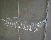 Кошик сітчастий шириною 606 мм глубиною 400мм висотою 100мм для гардеробної системи зберігання Україна, фото 1