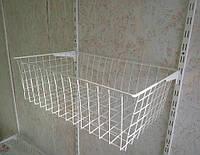 Кошик сітчастий шириною 606 мм глубиною 400мм висотою 190мм для гардеробної системи зберігання Україна, фото 1