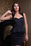 Вечернее платье с драпированой баской, фото 1