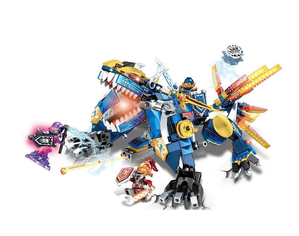 Конструктор JVToy, Новые рыцари, Земляной дракон, 462 деталей (11007)