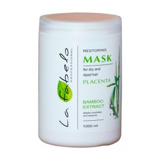LA FABELO PROFESSIONAL маска для сухихи и окрашенных волос с экстрактом бамбука+пшеничной плацентой 1000 ml
