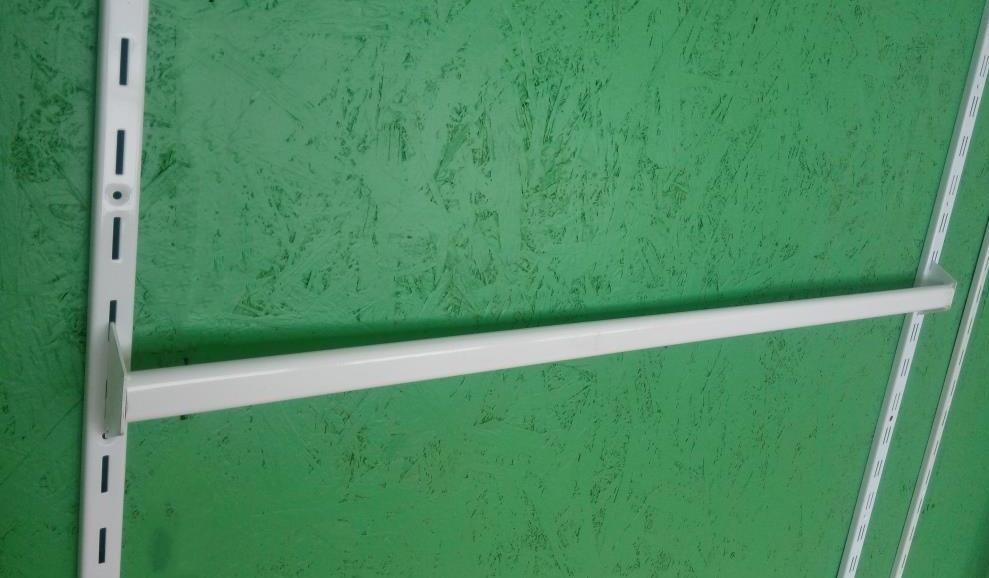 Перемичка (балка) довжиною 60см для рейкового торгового обладнання