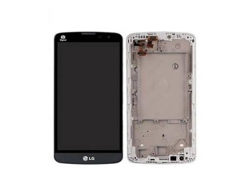 Дисплей (экран) для LG D335 L Bello Dual Sim с сенсором (тачскрином) и рамкой серый, фото 2