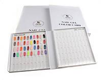Книга-дисплей для демонстрации гаммы цветов лаков, гель-лаков, дизайна для ногтей.  на 120 цветов