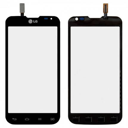 Сенсор (тачскрин) для LG D410 Optimus L90 Dual Sim черный, фото 2