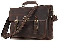Портфель Vintage 14246 в винтажном стиле Коричневый, Коричневый