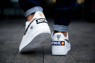 Мужские кроссовки Nike Air Force 1 White Just Do It Pack, фото 3