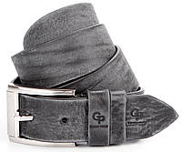 Ремень мужской GRANDE PELLE 00863 джинсовый Серый, Серый