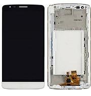 Дисплей (экран) для LG D690 G3 Stylus с сенсором (тачскрином) и рамкой белый Оригинал
