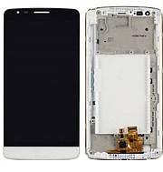 Дисплей (экран) для LG D690 G3 Stylus с сенсором (тачскрином) и рамкой белый Оригинал, фото 2