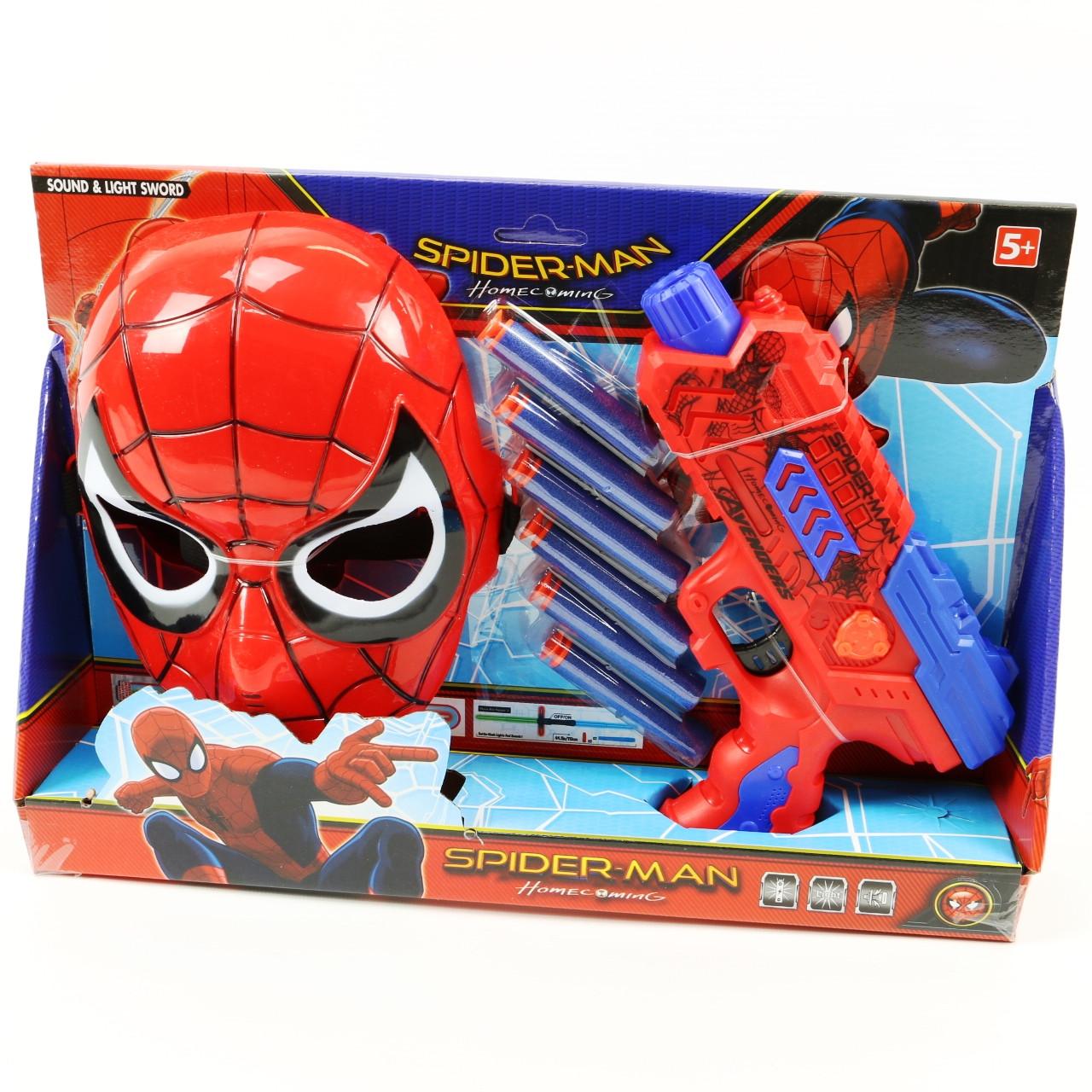 Набор пистолет с маской 530 СпайдерМен, Человек паук
