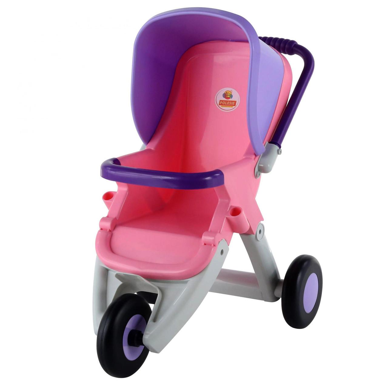 Коляска прогулочная для кукол 3-х колёсная розово-фиолетовая, «Coloma Y Pastor» (48127)