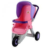 Коляска прогулочная для кукол 3-х колёсная розово-фиолетовая, «Coloma Y Pastor» (48127), фото 1