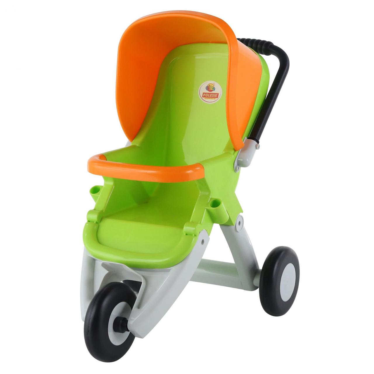 Коляска прогулочная для кукол 3-х колёсная салатово-оранжевая, «Coloma Y Pastor» (48127)
