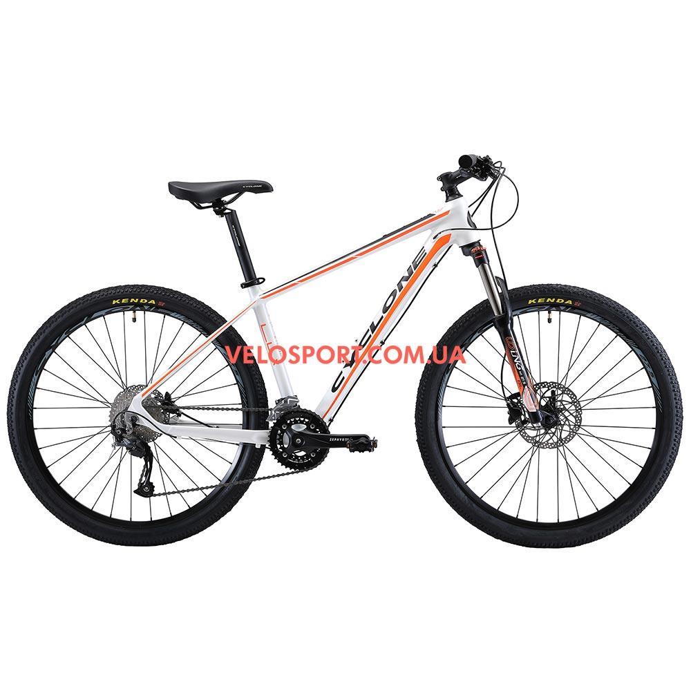 """Горный велосипед Cyclone LLX 27.5 дюймов 15,5"""" бело-оранжевый"""