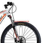 """Горный велосипед Cyclone LLX 27.5 дюймов 15,5"""" бело-оранжевый, фото 2"""