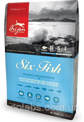 Сухой корм Orijen для собак | Orijen Six Fish Dog 11,4 кг, фото 2