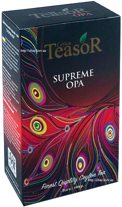 Чай Teasor Black Tea Supreme OPA 100g
