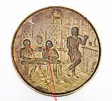 Старе латунне настінне панно, ручна робота, латунь, Англія, трактир, фото 7