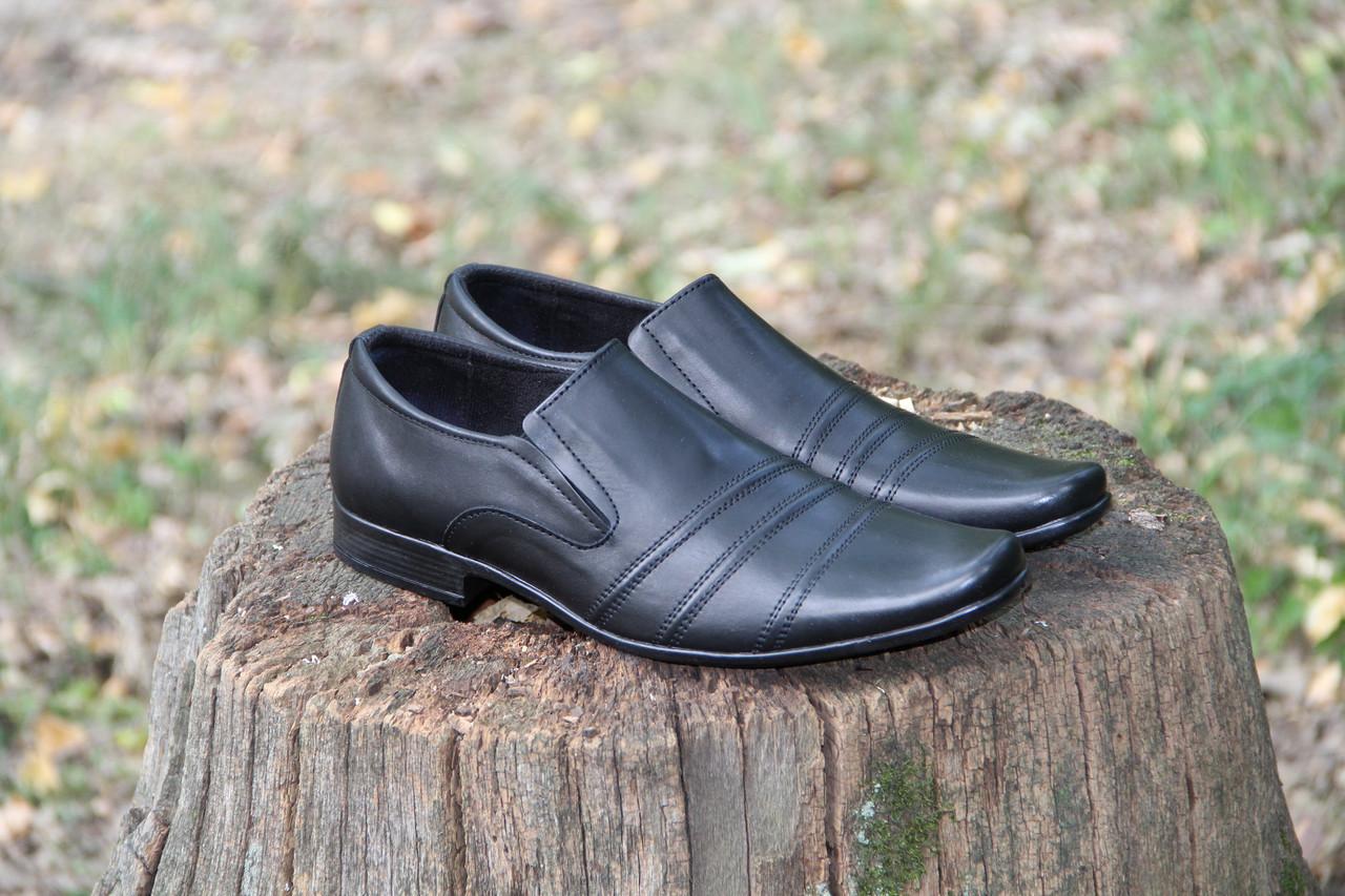 "Мужские кожаные туфли на резинке ""Leon Классика"""