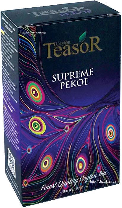 Чай Teasor Black Tea Supreme Pekoe 100g - чёрный чай Тисор Суприм ПЕКО без добавок 100 г