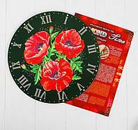 """Набор для творчества """"Diamond Time"""" Стильные Настенные креативные Часы Danko Toys Маки"""