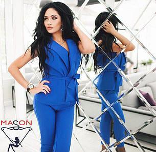 S, M, L / Стильный брючный костюм Archer, синий