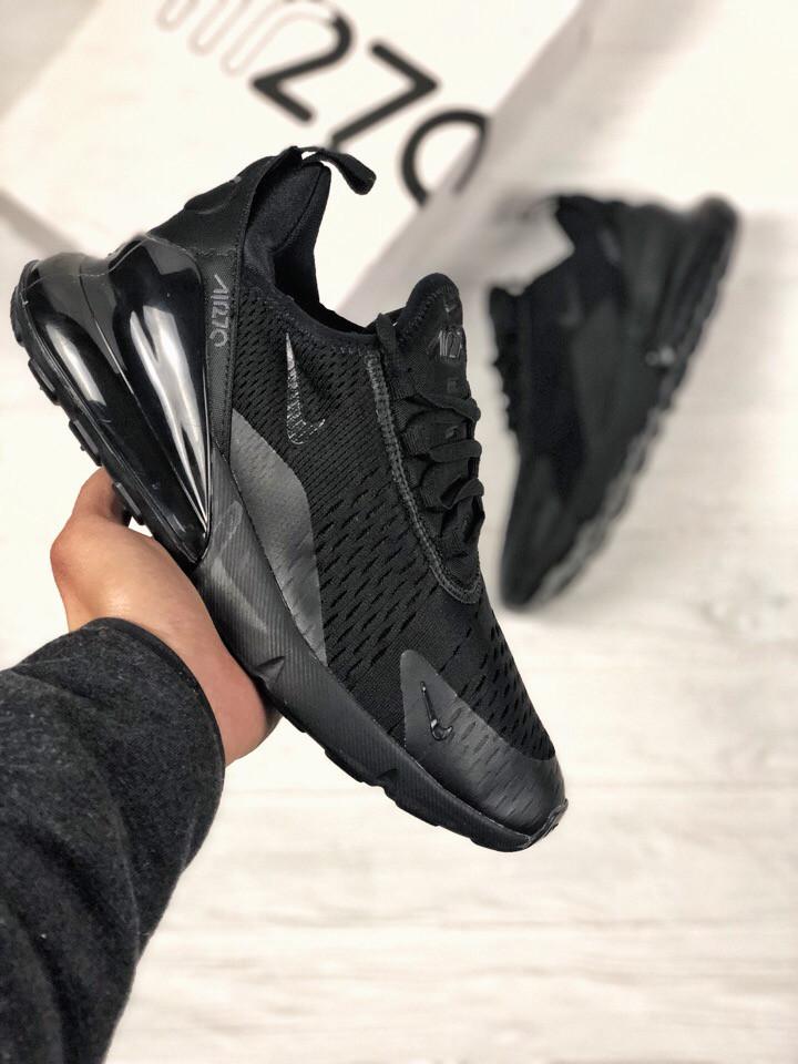 0bedd109 Мужские кроссовки Nike Air Max 270 черные топ реплика : продажа ...