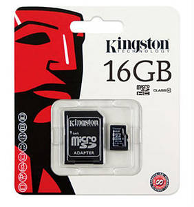 Карта памяти MicroSDHC 16GB Class 4 Kingston