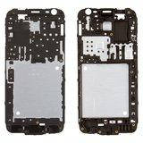 Рамка крепления дисплея для смартфона Samsung J200F, J200G, J200H, J200Y Galaxy J2, черная