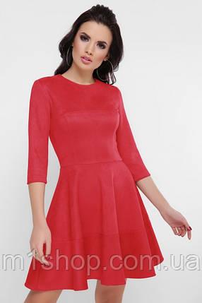 Женское расклешенное платье из замши (Margaretfup), фото 2