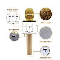Беспроводной микрофон-караоке bluetooth Q7,Отличный подарок ,Чистый звук