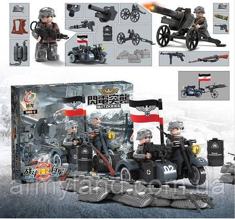 BMW R 75 c орудием, военный конструктор, аналог лего, BrickArms, фото 2
