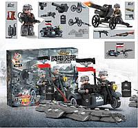 BMW R 75 c орудием, военный конструктор, аналог лего, BrickArms