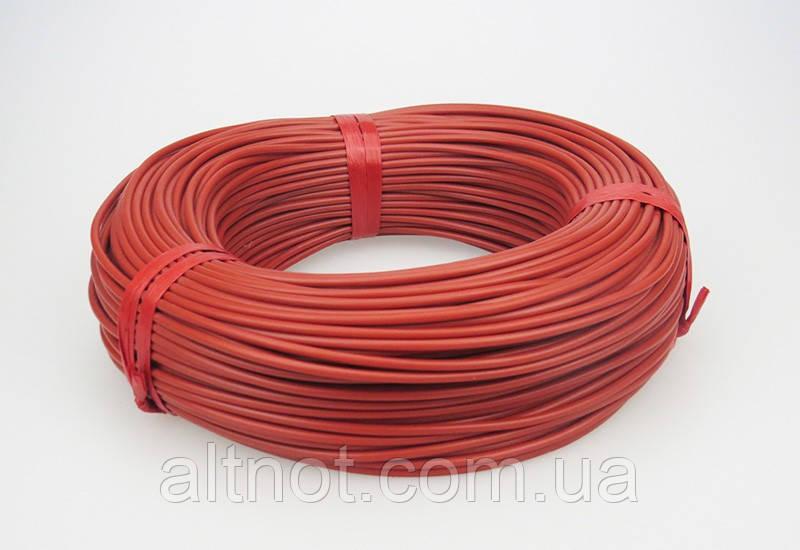 Карбоновый кабель S12K, R-33Ом/м., d-3,0 мм.нагреватель в силиконовой изоляции.