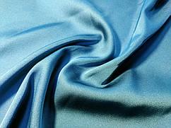 Шелк сатин, бирюзово-голубой