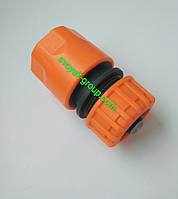 "Коннектор для шланга со стопом 3/4"" дюйма ""Presto Ps"" Primo - 5820 (orange, green)."