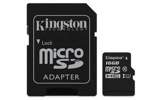 Карта памяти MicroSDHC 16GB UHS-I Class 10 Kingston Canvas Select