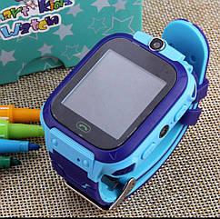 Детские часы-телефон S-9. Прослушка, сенсорный экран, камера, фонарик, мониторинг местоположение. Голубые