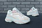 Женские кроссовки Ash Addict Sneakers (бело-розовые), фото 4