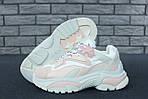 Женские кроссовки Ash Addict Sneakers (бело-розовые), фото 5