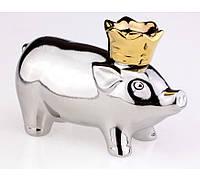 Свинья в короне графин - штоф ( поросенок/свинка ) 250 мл - необычный графин для напитков и прикольный подарок