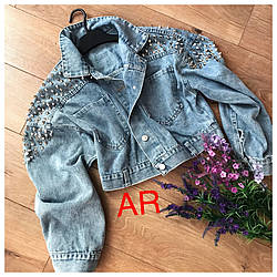 Джинсовая женская куртка качество люкс (Фабричный Китай) Код 504-1403