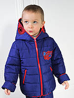 Куртка СПАЙДЕРМЕН детская демисезонная для мальчика, весенняя, осенняя, р-р 98-116