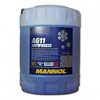 Антифриз Mannol Longterm Antifreeze AG11 -80 ˚C концентрат синий (10л)