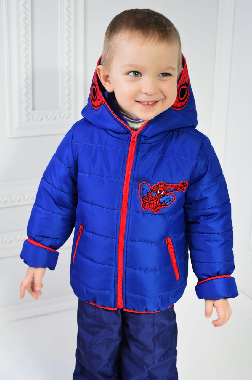 2582f9b88d530 Куртка СПАЙДЕРМЕН детская демисезонная для мальчика, весенняя, осенняя, р-р  98-