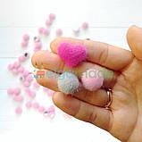 Кабошон меховой сердце, РОЗОВЫЙ, 1.7х1.5 см, 1 шт, фото 3